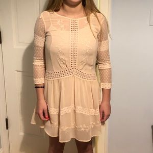 TopShop Blush lace dress size 2